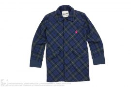 Plaid Trench Coat by Wtaps