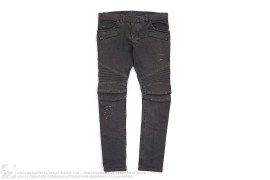 mens jeans Distressed Biker Jeans by Balmain