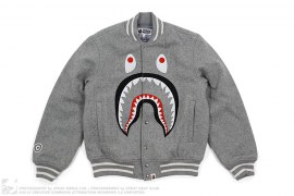 Front Facing Shark Wool Varsity by A Bathing Ape