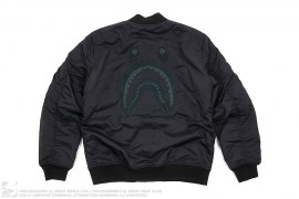 Black Out Back Shark MA1 Jacket by A Bathing Ape