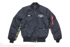 1st Camo Accent Reversible MA1 Bomber Flight Jacket by A Bathing Ape x Alpha Industries