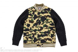 1st Camo Knit Sleeve Jacket by A Bathing Ape