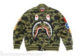 1st Camo Shark Windstopper Sweat Varsity Jacket by A Bathing Ape