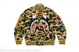 1st Camo Shark Windstopper Sweat Varsity Jacket by A Bathing Ape