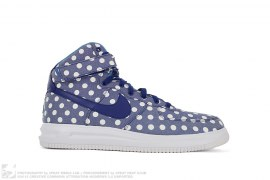 Nike ID Lunar Force 1 High Chambray Polka Dot by Nike