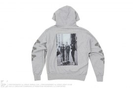 mens pullover Vintage Wash Photo Hoodie #1 by 3peat x Sunny Bak
