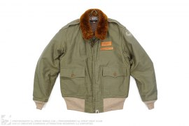 Fur Collar 1st Camo Lined Bomber Jacket by A Bathing Ape x Toys McCoy