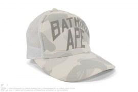 mens hat City Camo New York Logo Trucker by A Bathing Ape