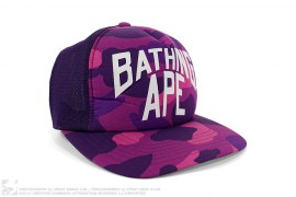 Color Camo New York Logo Trucker by A Bathing Ape