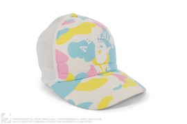 mens hat Cotton Candy Camo Crown Apehead Logo Trucker by A Bathing Ape