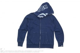 Indigo Shark Hoodie by A Bathing Ape