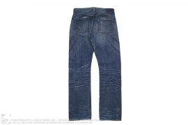 JP Premium 5 Pocket Washed Selvedge Jeans by Levis