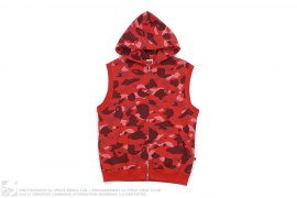 Color Camo Sleeveless Hooded Sweatshirt by A Bathing Ape
