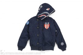 NBHD N-2B Shark Jacket by A Bathing Ape x Neighborhood