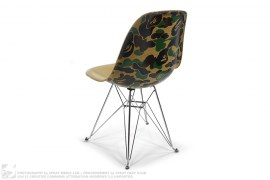 ABC Camo Back Fiberglass Shell Eiffel Chair by A Bathing Ape x Modernica