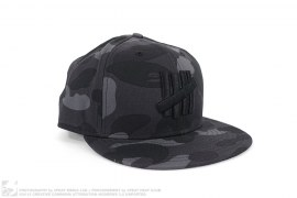 Color Camo 5 Strike Fitted Hat by Undefeated x A Bathing Ape