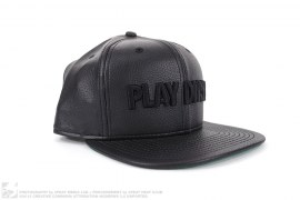 Leather Play Dirty Snapback Hat by Undefeated