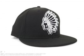 Embroidered Black Hawks Fitted Hat by Undefeated