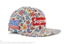 mens hat Floral Box Logo Fitted Hat by Supreme x Liberty Fabrics