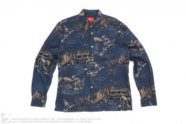 mens button-up Dogs & Ducks Button-Up Shirt by Supreme