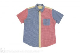 Small Apehead Tri Color Gingham Button-Up by A Bathing Ape