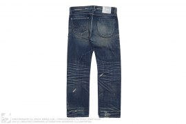 mens jeans Narrow Straight Savage LV.4 Washed Selvedge Denim by Neighborhood