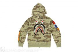 mens hoodie Tiger Camo WGM Wappen Back Shark Hoodie by A Bathing Ape