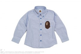 Apehead Chambray Button-Up Shirt by A Bathing Ape
