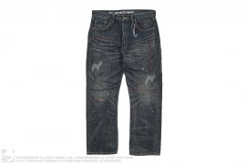 Anchor Savage Deep Basic Straight Distressed Selvedge Jeans by Neighborhood