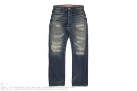 Stitch XX Back Pocket Distressed Selvedge Denim by OriginalFake