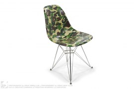 ABC Camo Front Side Fiberglass Shell Eiffel Chair by A Bathing Ape x Modernica x Complexcon