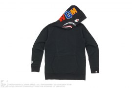 Side Zipper WGM Wappen Shark Pullover Hoodie by A Bathing Ape