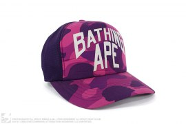 mens hat Color Camo New York Logo Trucker by A Bathing Ape