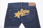 Chain Stitch Bape Sta Logo Jeans, item photo #4