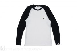 Small Apehead Thermal Long Sleeve Tee by A Bathing Ape