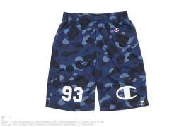 Color Camo Mesh Basketball Shorts by A Bathing Ape x Champion