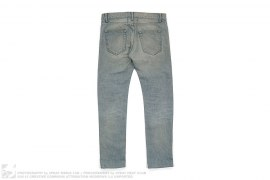 Light Wash Slim Fit Denim by Saint Laurent