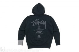 World Tour Pullover Hoodie by Stussy x Mastermind Japan x Loopwheeler