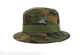 mens hat Patchwork Camo Bucket Hat by 7 Union