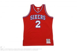 Philadelphia 76ers Moses Malone 1982-83 Jersey by Mitchell & Ness