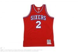 Philadelphia 76ers Moses Malone 1982-83 Jersey by Mitchell & Ness