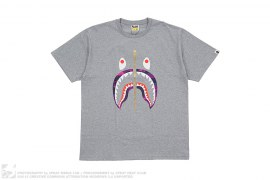 Color Camo Shark Tee by A Bathing Ape