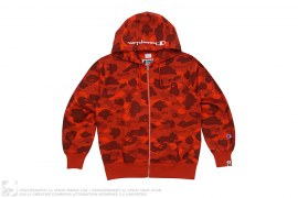Color Camo Champion Full Zip Hoodie by A Bathing Ape x Champion