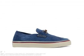 Suede Monogram Loafer by Gucci