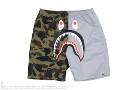 Half 1st Camo Shark Beach Shorts by A Bathing Ape