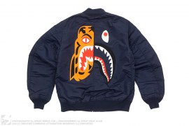 Split Tiger Shark MA1 Bomber Jacket by A Bathing Ape