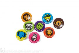 Milo & Animals Badge Set Of 2 by A Bathing Ape