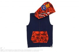 Color Camo Hood Sleeveless Shark by A Bathing Ape