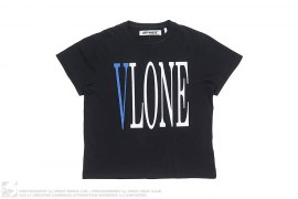 Blue Staple Logo Tee by Off-White x Vlone
