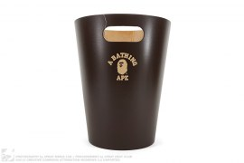 College Logo Wooden Trash Can by A Bathing Ape